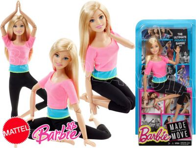 BARBIE LALKA MADE TO MOVE DHL82