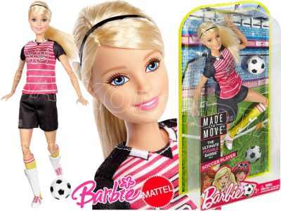 BARBIE LALKA MADE TO MOVE SPORTOWE DVF69