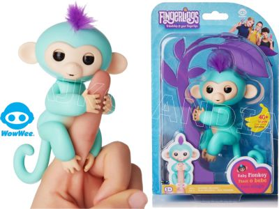 FINGERLINGS ITERAKTYWNA MAŁPKA ZOE TURKUSOWA 3706