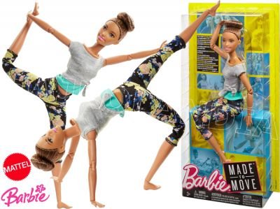 BARBIE LALKA MADE TO MOVE KWIECISTE FTG82