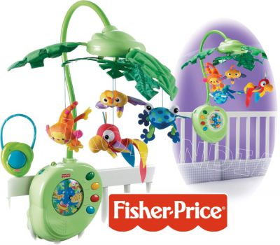 FISHER PRICE MUZUCZNA KARUZELA RAINFOREST BMM01