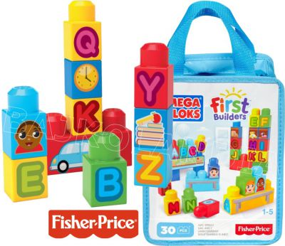 MEGA BLOKS FIRST BUILDERS KLOCKI ABC 30EL DCH38