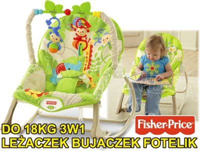 FISHER PRICE LEŻACZEK BUJACZEK 3W1 DO 18KG CBF52