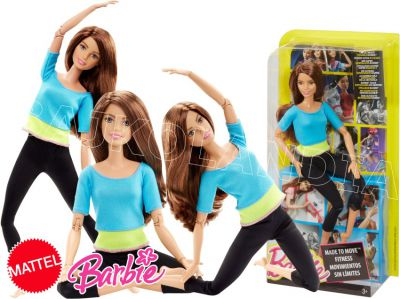 BARBIE LALKA MADE TO MOVE DJY08