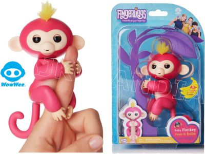 FINGERLINGS INTERAKTYWNA MAŁPKA BELLA RÓŻOWA 3705