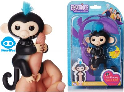 FINGERLINGS INTERAKTYWNA MAŁPKA FINN CZARNA 3701