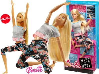 BARBIE LALKA MADE TO MOVE KWIECISTE FTG81