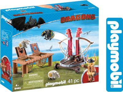 PLAYMOBIL SMOKI PYSKACZ KATAPULTA DO OWIEC 9461