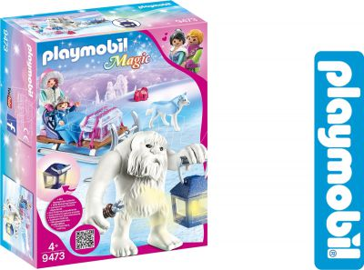PLAYMOBIL MAGIC ZIMOWY TROLL Z SANKAMI 9473