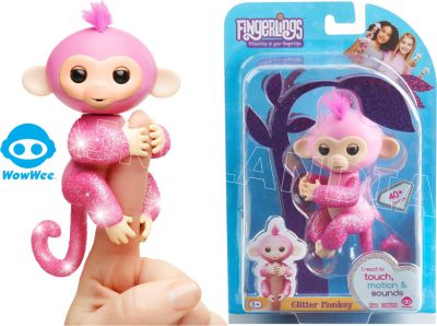 FINGERLINGS MAŁPKA BROKATOWA ROSE RÓŻOWA 3764