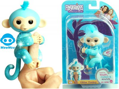 FINGERLINGS MAŁPKA BROKATOWA AMELIA TURKUSOWA 3761